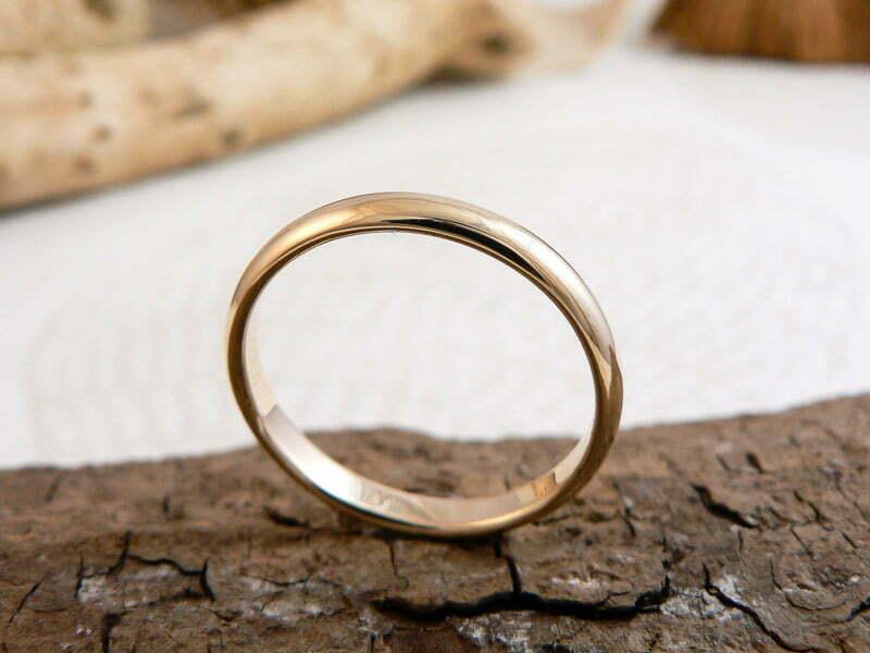 Alianza boda media caña 3mm brillo